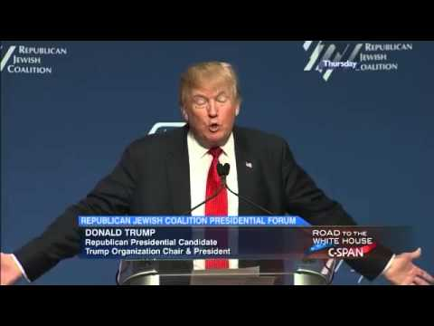 Presidential Candidate Donald Trump at Republican Jewish Coalition Presidential Forum