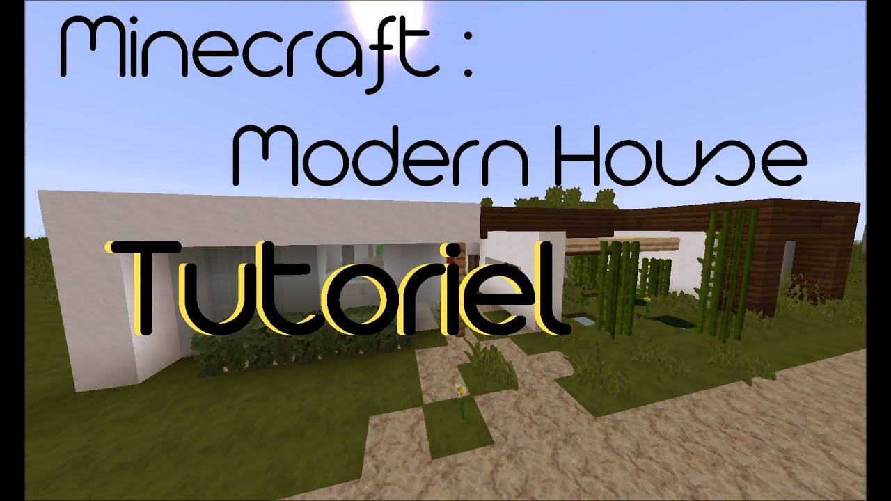 Minecraft tuto maison moderne n 3 ep 1 3 youtube for Tuto maison moderne nox x