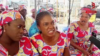 "Omoni Oboli, Toyin Abraham, Sola Sobowale on set of ""Wives On Strike: The Revolution"""