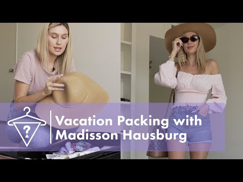 How to Pack for Vacation with Siesta Key Star Madisson Hausburg   #StyledByGUESS