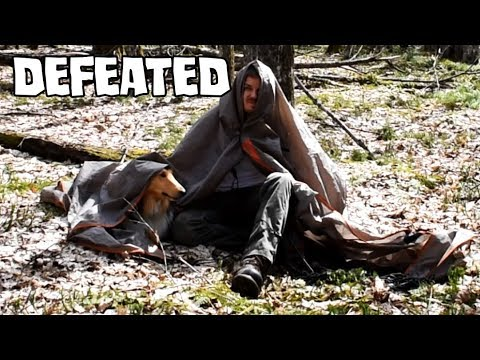 Spring Bushcraft Camp Fail - When Things Don't Go As Planned