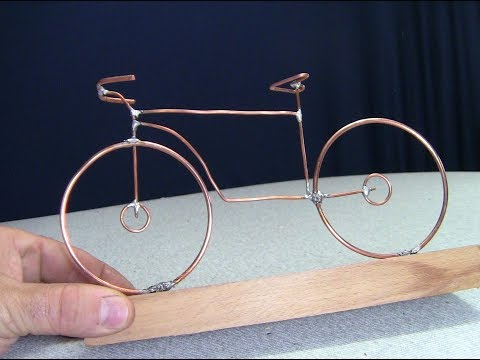 How to Make a Bicycle from a Copper Wire DIY