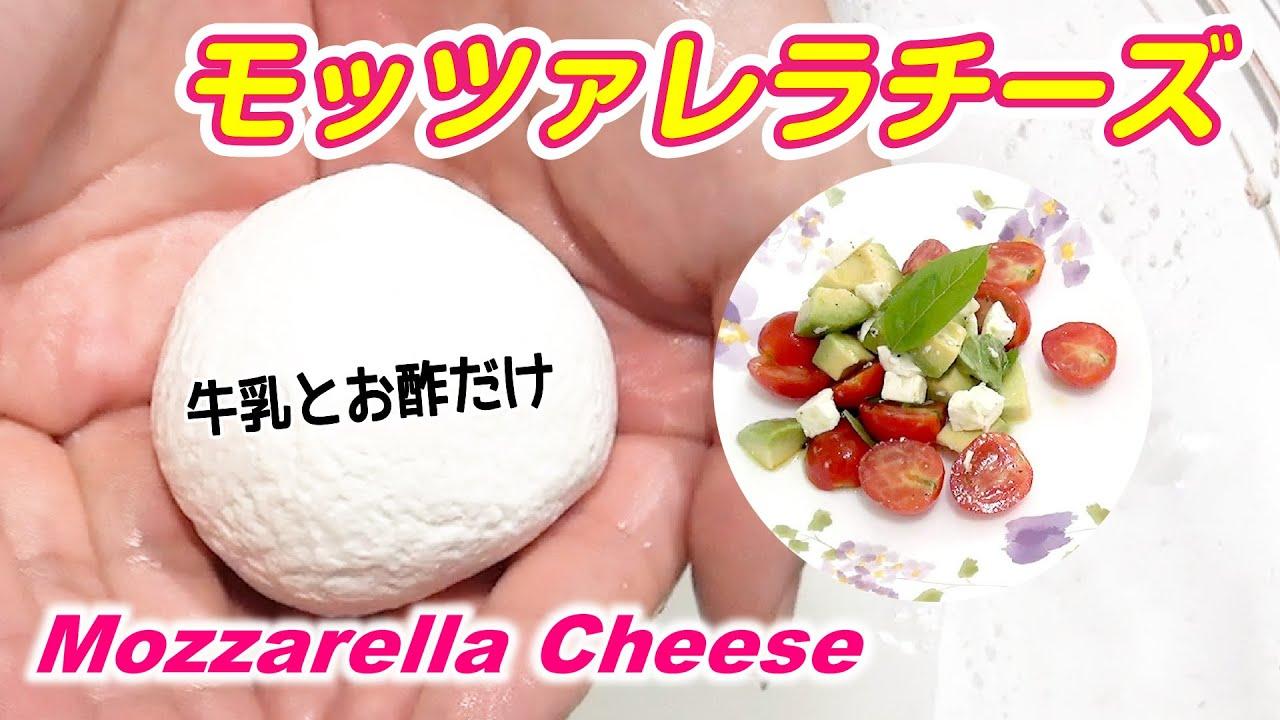 【モッツァレラチーズの作り方】材料2つ✨スーパーで買える牛乳とお酢で簡単レシピ😊30 分で完成✨Homemade Fresh Mozzarella Cheese