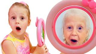 Nastya y espejos mágicos cambiando caras, historia divertidapara niños