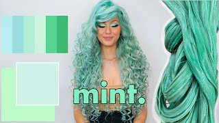 Trying out Mint hair