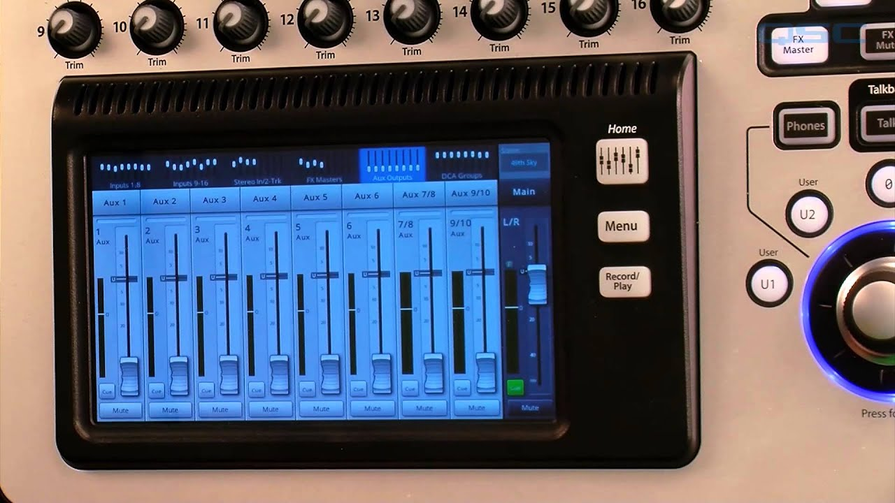 qsc touchmix 8 or 16 channel compact digital mixer namm demo recreation full compass youtube. Black Bedroom Furniture Sets. Home Design Ideas