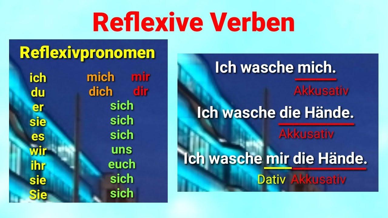 A1, A2, B1, B2, C1, Reflexive Verben, mich, dich sich, mir