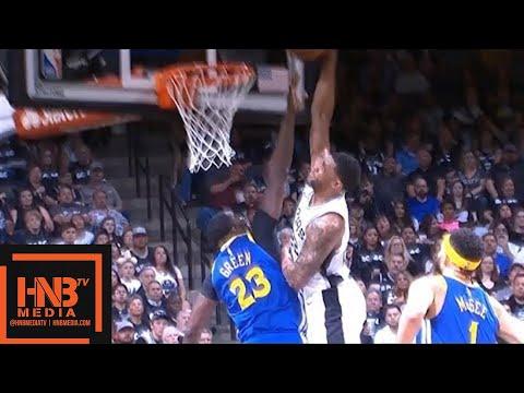 Golden State Warriors vs San Antonio Spurs 1st Half Highlights / Game 3 / 2018 NBA Playoffs