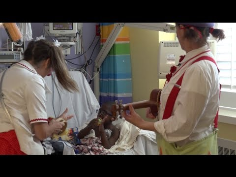 Circus Flora sends in the clowns at Cardinal Glennon Children's Hospital