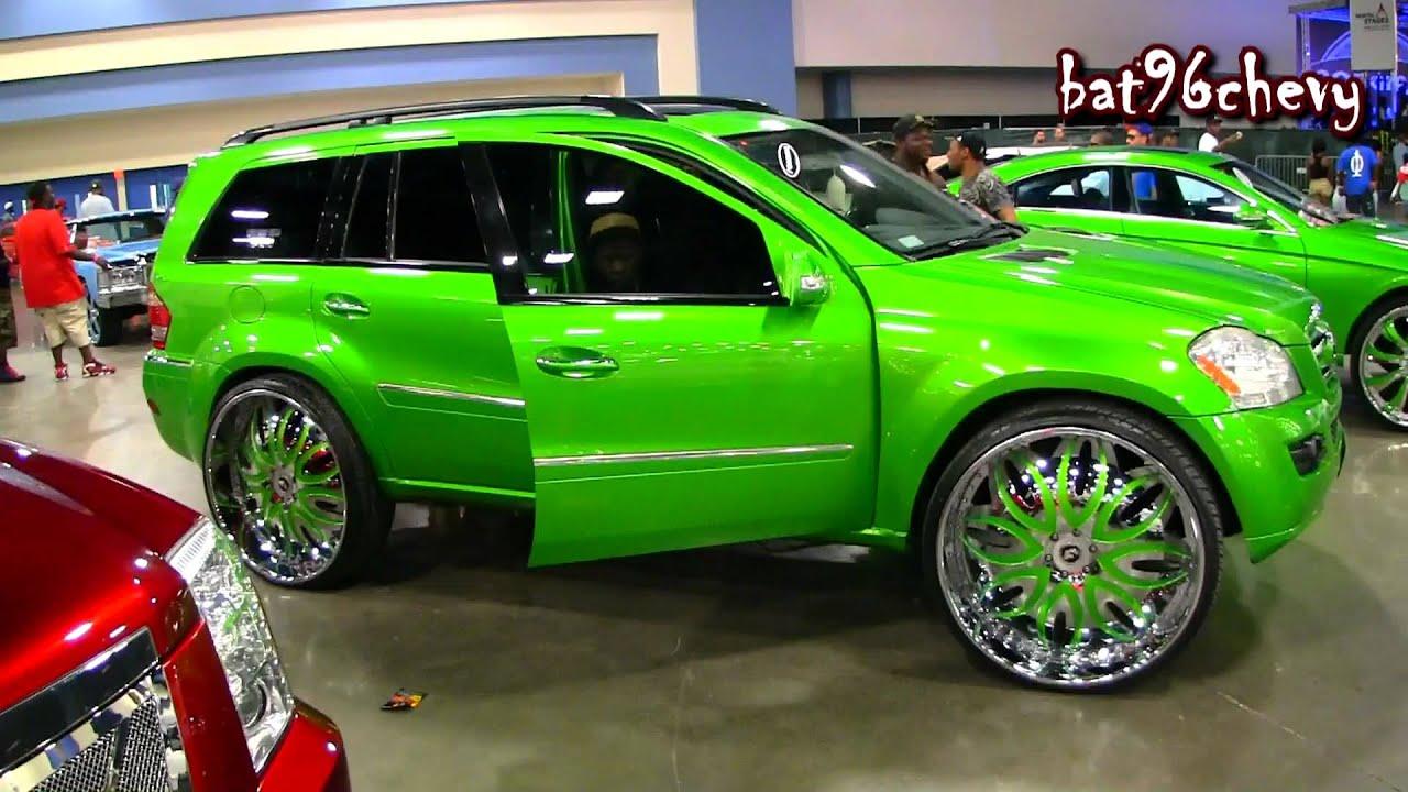 "Mercedes Box Suv >> Candy Green Mercedes Benz GL 450 Truck on 28"" Forgiatos ..."