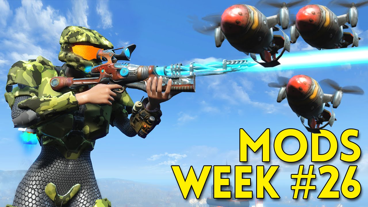Fallout 4 TOP 5 MODS Week #26 - HALO ARMOR, DRONES, BEAUTIFUL HOUSE