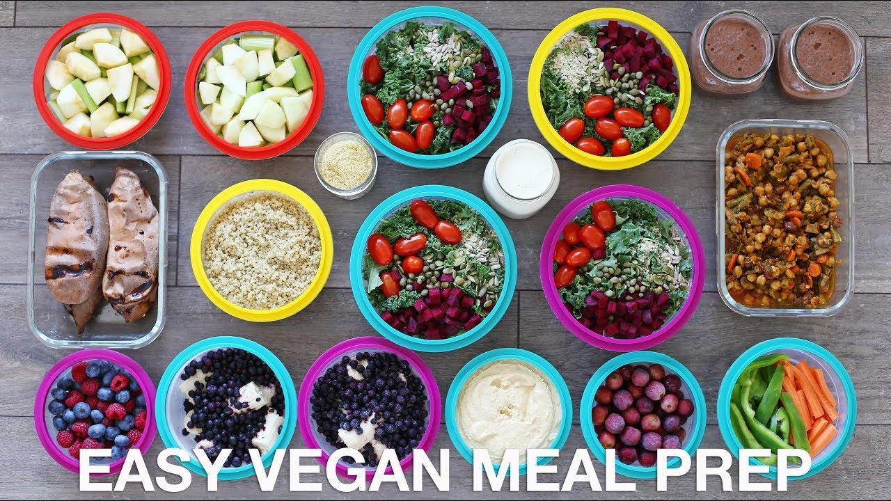 Easy Vegan Meal Prep 12 Healthy Meals Snacks Youtube