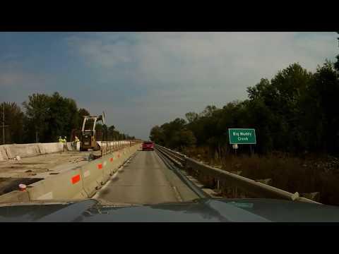 10-5-17 Big and Little Muddy Bridge Construction on US Rt.50 in Illinois