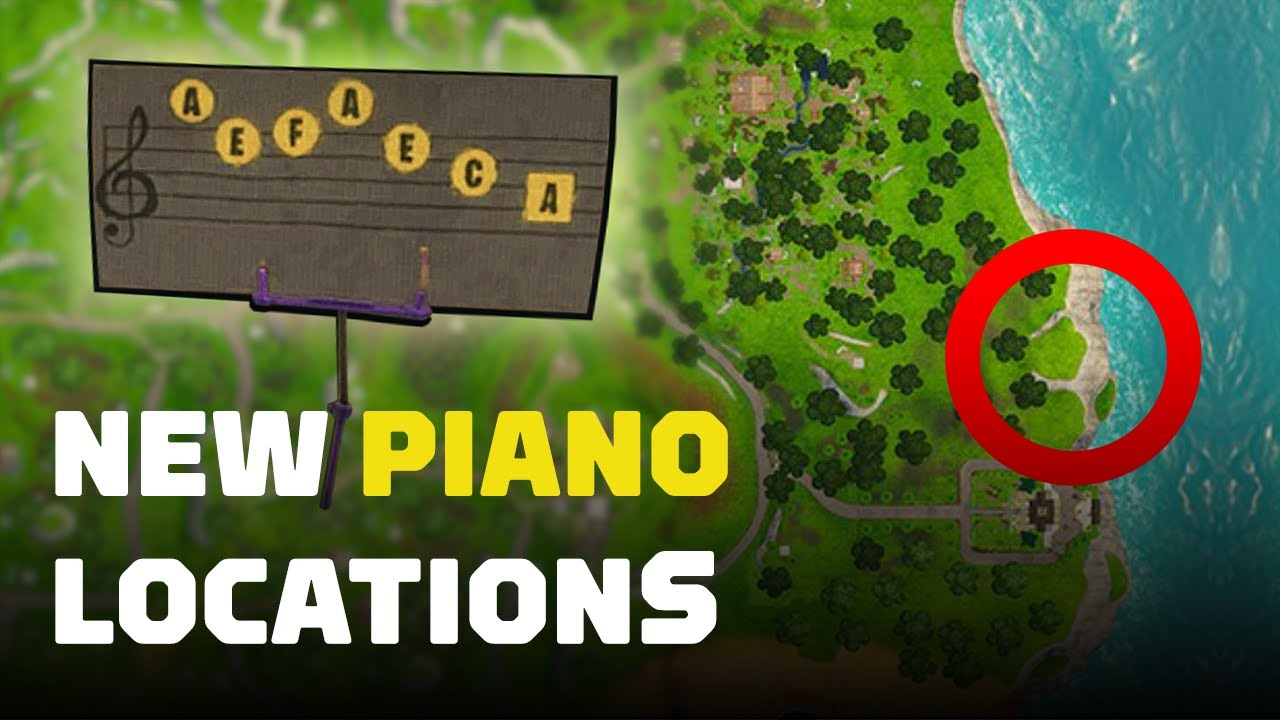 Fortnite Play Sheet Music On Pianos Near Pleasant Park And Lonely Lodge