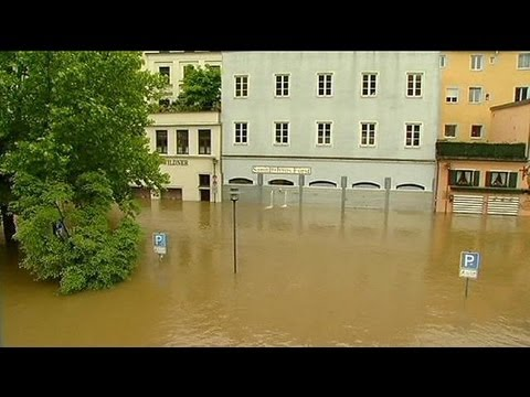 Flood disaster warnings in Central Europe