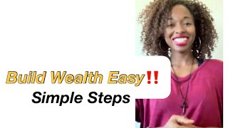 Financial Tip - How To Build Wealth