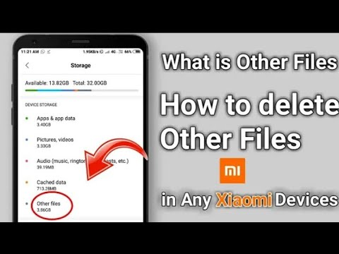 Full Details of OTHER FILES in storage option/how to clean/delete & what is Other files