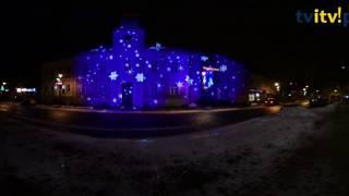 Stary Rynek w Łomży zimą (360 degrees stopni VR 4K)