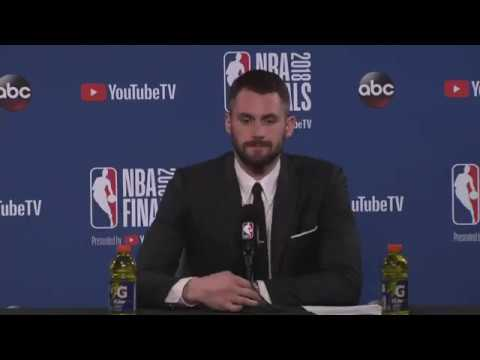 Kevin Love Postgame Interview |  Cavaliers vs Warriors NBA Finals Game 1
