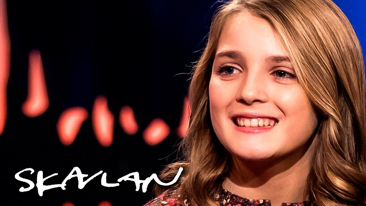 «My Brilliant Friend» star Elisa del Genio never meant to audition    English sub    SVT/TV 2/Skavlan