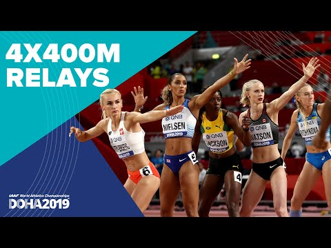 Men's And Women's 4x400m Relay Finals | World Athletics Championships Doha 2019