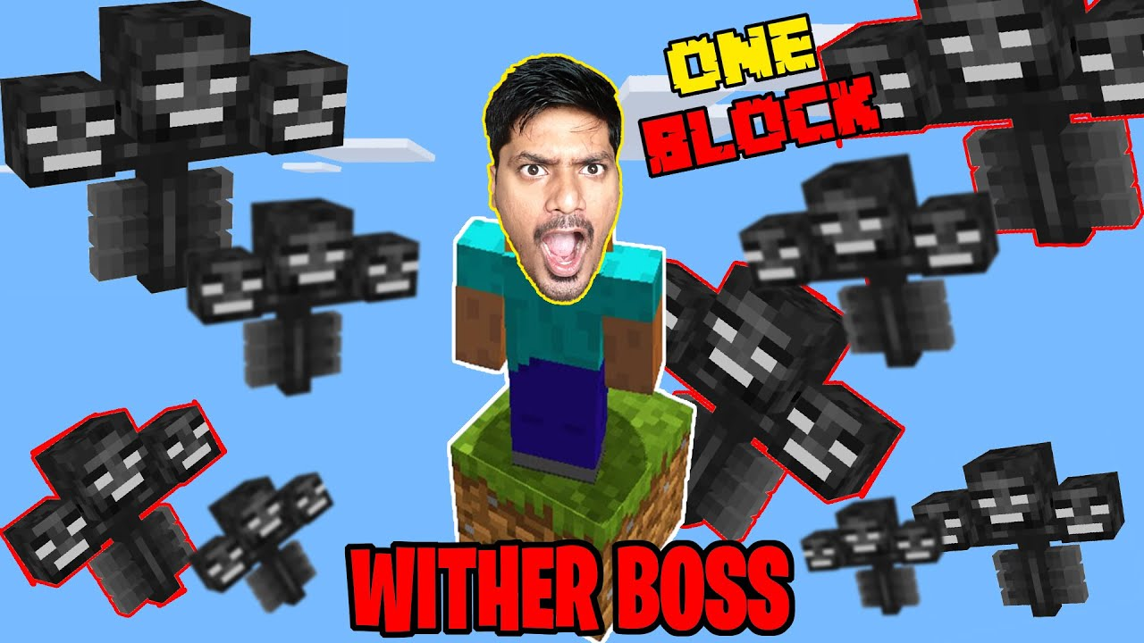 100 **WITHER BOSSES** Destroyed one Block  | minecraft Hindi