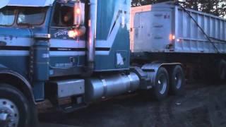 Dump Truck Unloading Stone
