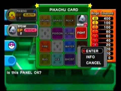 Pokémon XD: Gale of Darkness - Battle Bingo - Pikachu Card