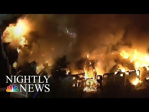 Pennsylvania Senior Center Destroyed By Massive Fire | NBC Nightly News