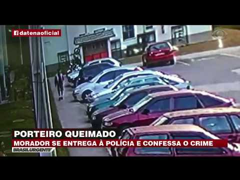 RJ: Morador que ateou fogo a porteiro confessa crime