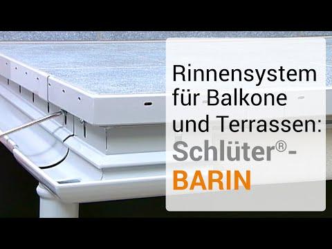 Rinnensystem Fur Balkone Und Terrassen Schluter Barin Youtube