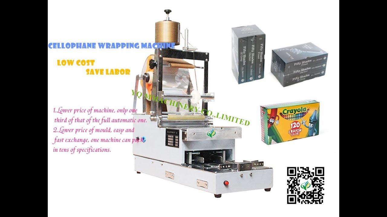 Manual Box Transparent Film 3d Packing Machine Bopp Plastic Shrink Film Wrapper With Tear Tape