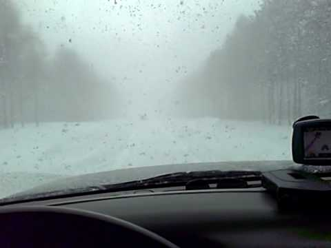 Driving in White Out in Mancelona, MI