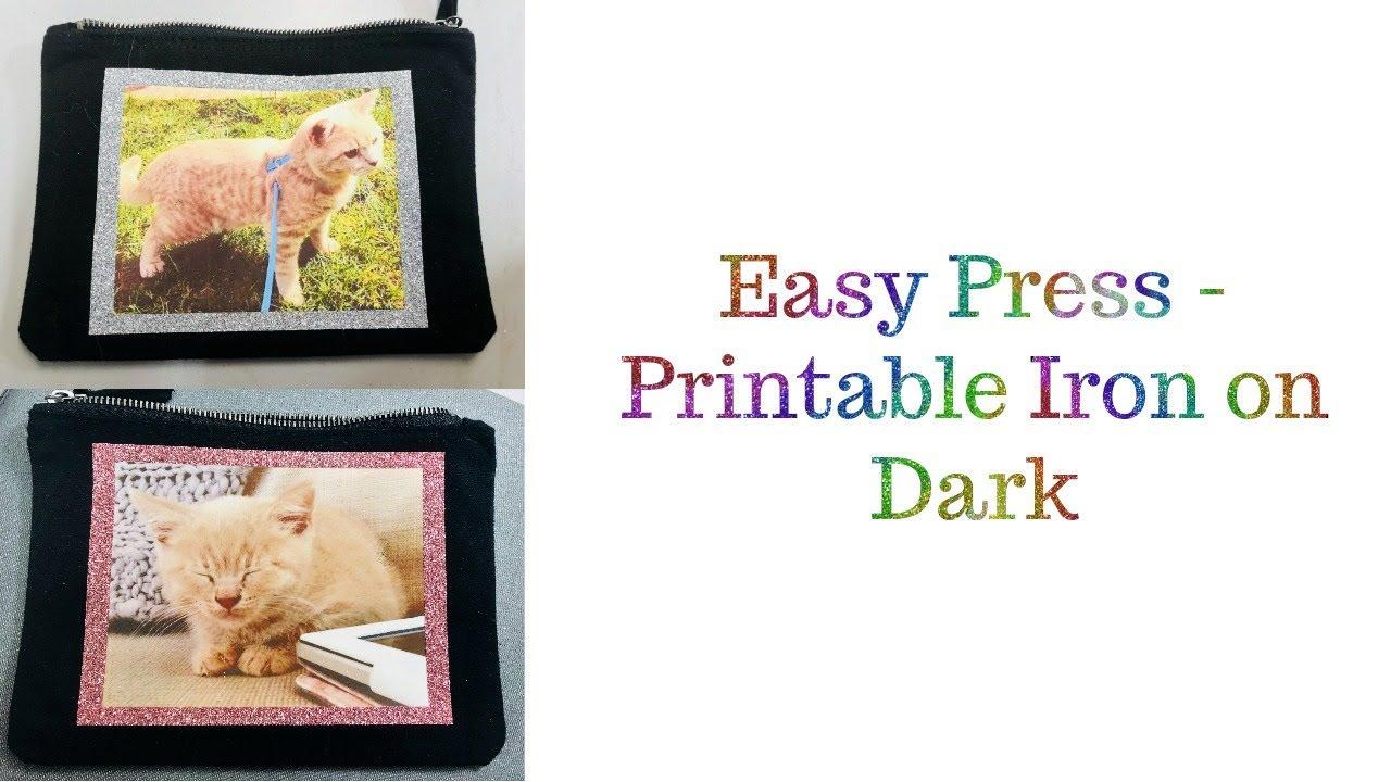 Printable Iron On Dark Cricut Easy Press Youtube