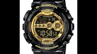 обзор и настройка часов Casio G-Shock GD-100GB-1E 3263