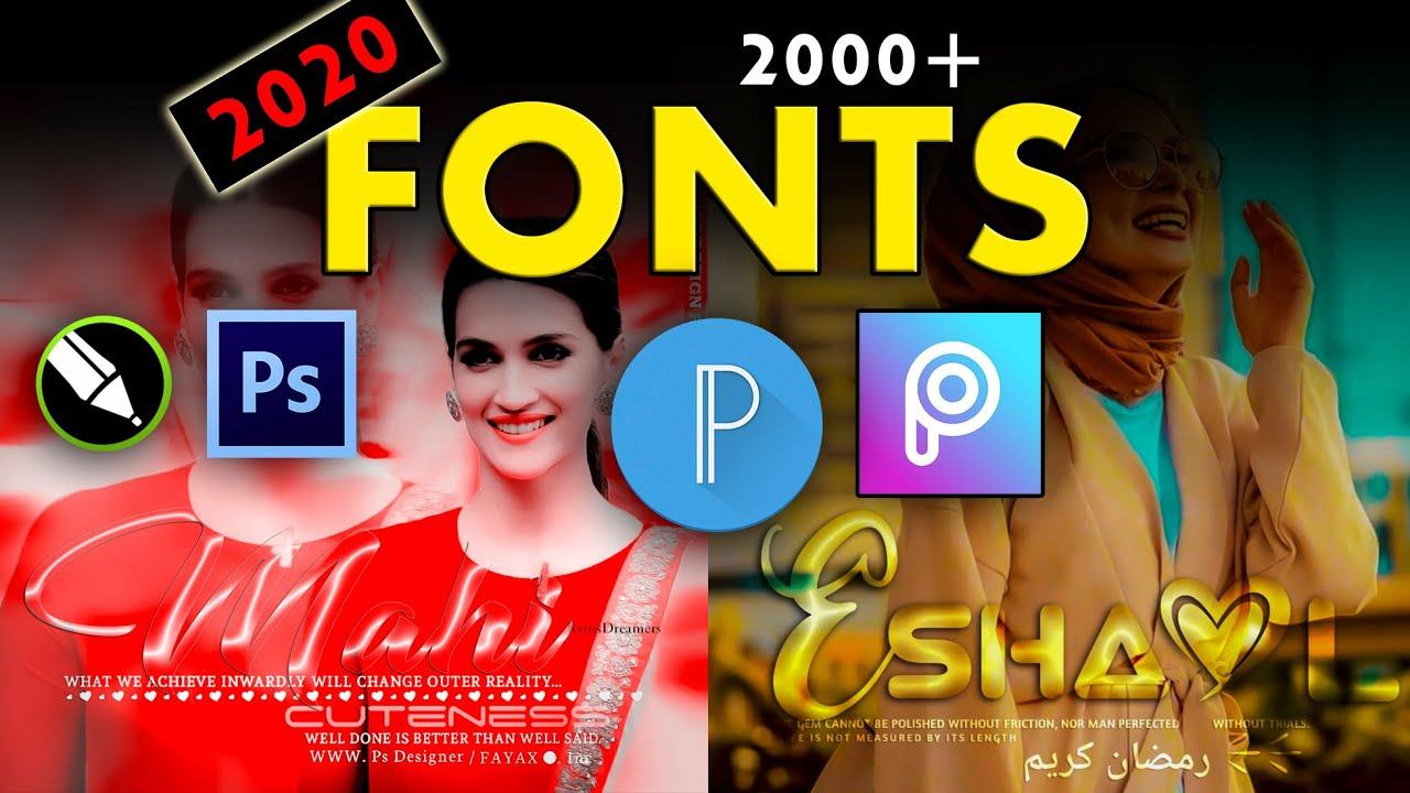 Download 2020 new fonts pack || latest fonts for picsart , pixlab ...