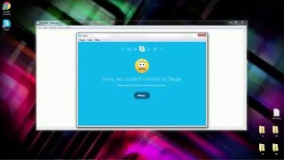 How to fix Skype error: Sorry, we couldn't connect to skype.(, 2016-02-01T01:49:46.000Z)