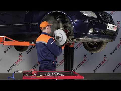 How to replace Front Anti Roll Bar Link on MERCEDES-BENZ C W203 TUTORIAL | AUTODOC