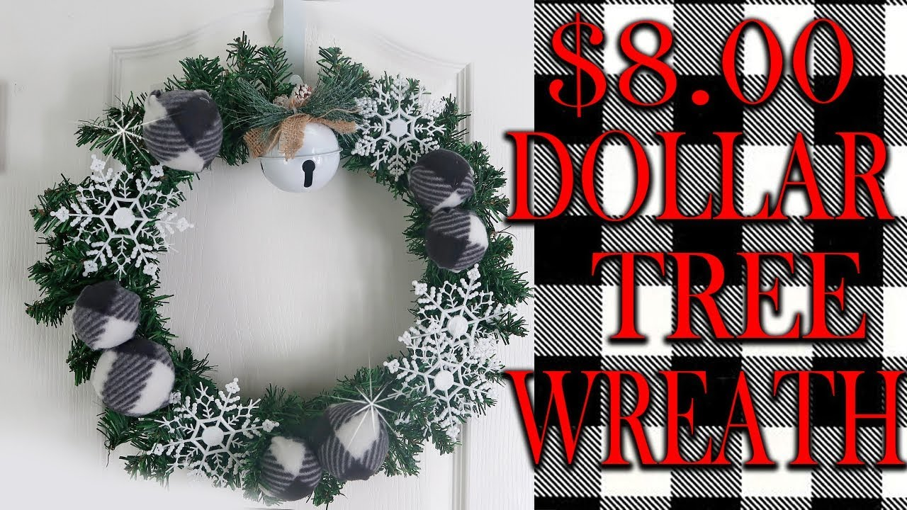 Buffalo Check Christmas Wreath.Dollar Tree Buffalo Check Christmas Wreath Diy