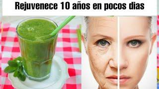 REJUVENECE 10 AÑOS EN POCOS DÍAS CON ÉSTE JUGO VERDE|mejora el metabolismo