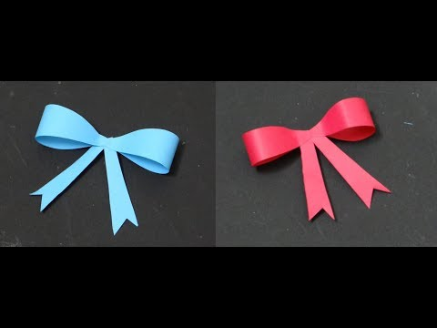 Making Paper bow/Ribbon (easy) - DIY 🎀 🎀