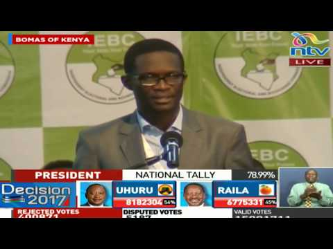 Two more forms 34B to go before  IEBC can announce the final result - Ezra Chiloba