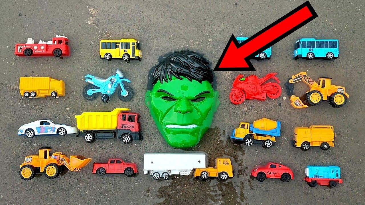 tayo, kereta api, mobil polisi, mobil double cabin, mobil molen, mobil pemadam, bego, dump truck,