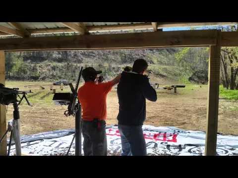 Matt and Nate at Knob Creek Gun Range.