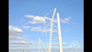 Wind turbine construction time-lapse video: University of Minnesota