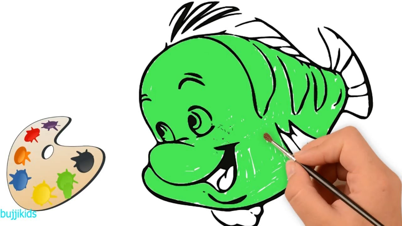 Fish Coloring for Kids   Drawing and Coloring Fish 2018 - YouTube