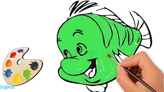 Fish Coloring for Kids | Drawing and Coloring Fish 2018