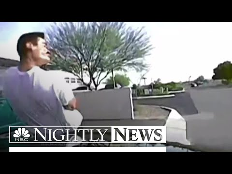 Arizona Cop Slams Police Car Into Suspect: Dashcam Video | NBC Nightly News