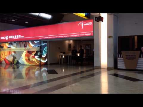 ICBC Bank Giant Advertising with Lounge concept in Jakarta Soekarno-Hatta International Airport