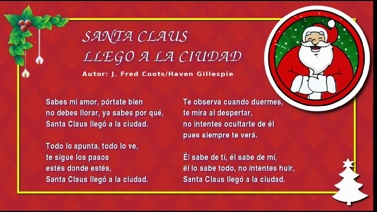 Canciones de navidad en ingles de papa noel